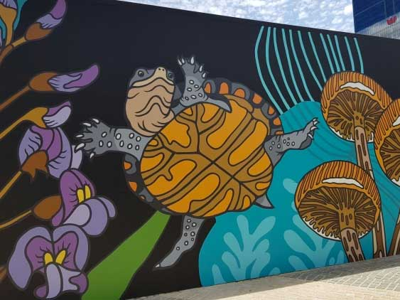 Elizabeth Quay Mural