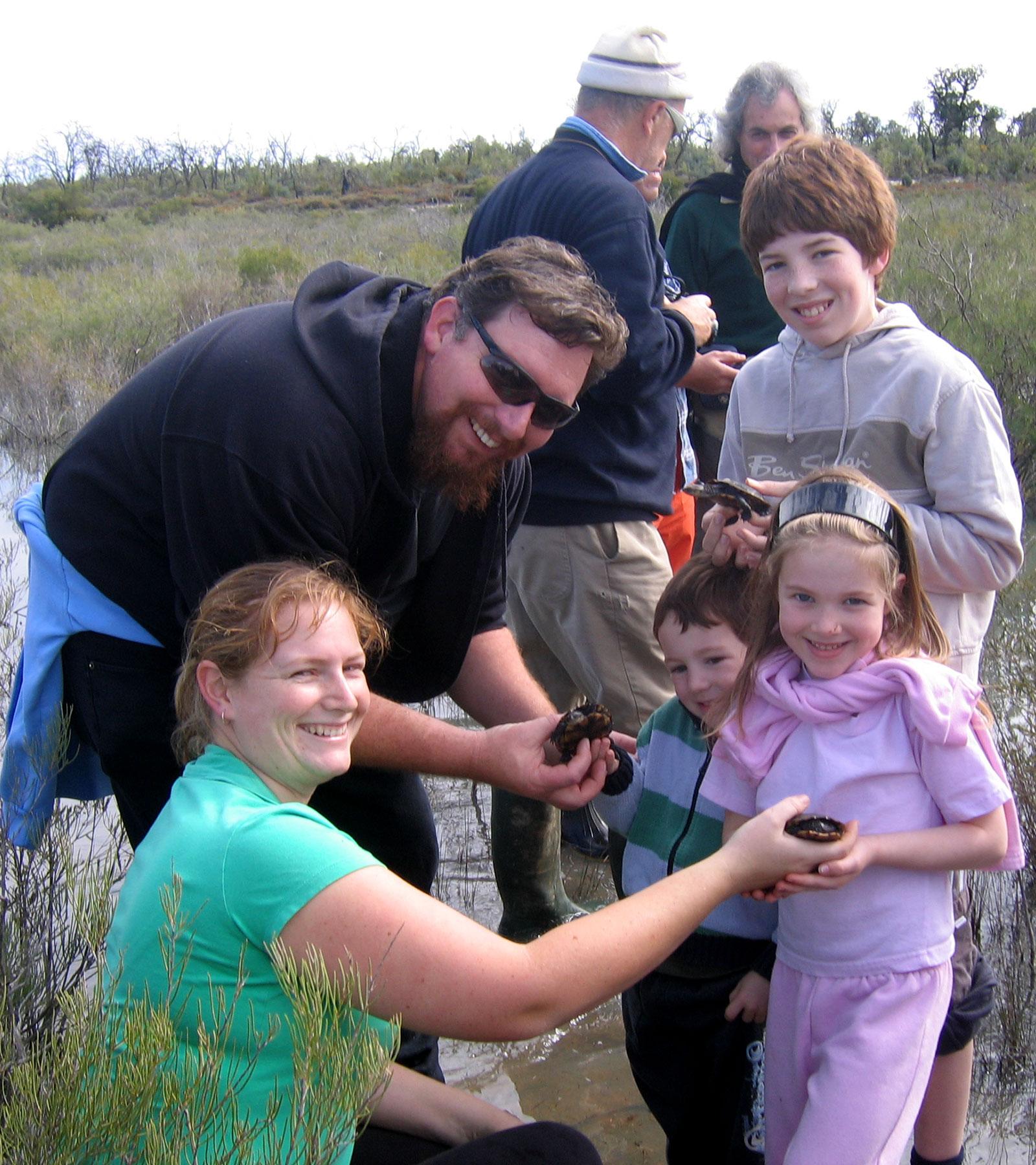 Volunteers with the Western Swamp Tortoise
